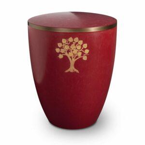 Gravur-Urne-–-Lebensbaum-purpurrot-mit-dekorring-gold-9mm