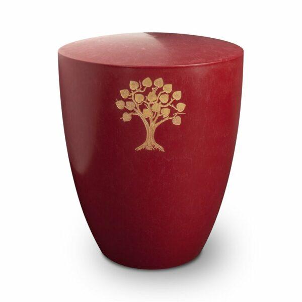 Gravur Urne – Lebensbaum-purpurrot-standard