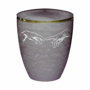 Gravur Urne Hand in Hand Silber
