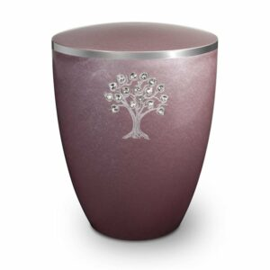 gravur-urne-lebensbaum-und-swarovskiherzen-flieder-mit-dekorring-silber-9mm