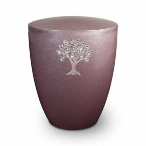 gravur-urne-lebe nsbaum-und-swarovskiherzen-flieder-standard