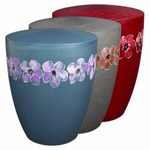 Naturstoffurne - Blumenkranz