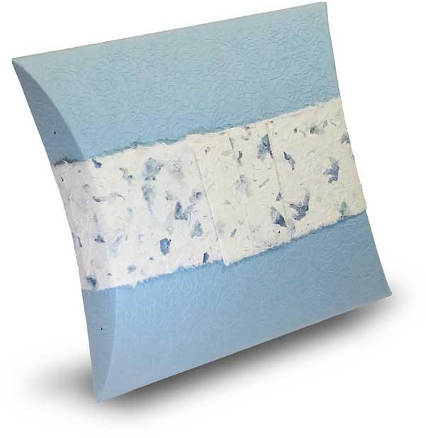 Bio Urne Papier hellblau