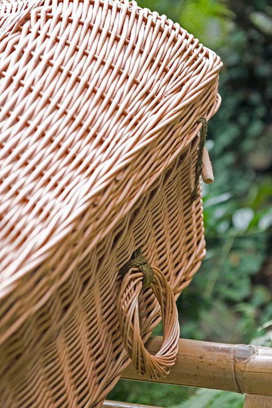 Weidenruten-Sarg Eco Pod