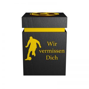 Fußball-Urne Dortmund gelb/schwarz WvD