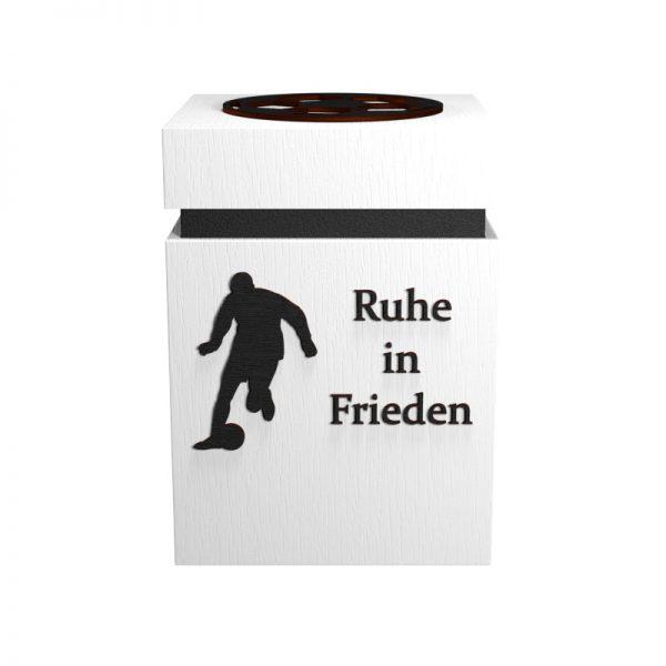 Fußball-Urne Stuttgart weiß/schwarz RiF