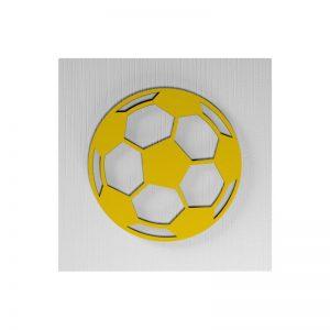 Fußball-Urne Stuttgart weiß/schwarz/rot/gelb RiF