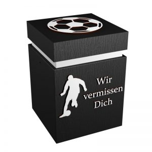 Fußball-Urne Sandhausen schwarz/weiß WvD