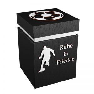 Fußball-Urne Sandhausen schwarz/weiß RiF