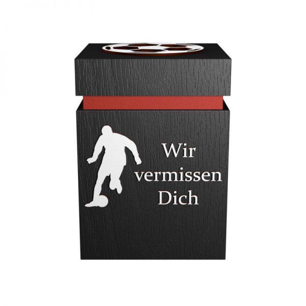 Fußball-Urne Frankfurt rot/schwarz WvD
