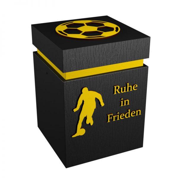 Fußball-Urne Dortmund gelb/schwarz RiF