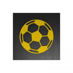 Fußball-Urne Dresden gelb/schwarz RiF