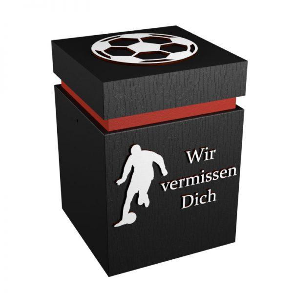 Fußball-Urne Freiburg rot/schwarz WvD