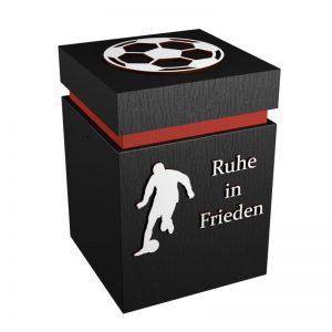 Fußball-Urne Ingolstadt rot/schwarz RiF