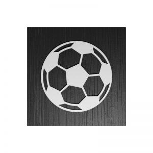 Fußball-Urne Leverkusen rot/schwarz RiF