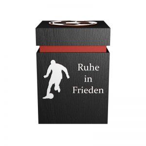 Fußball-Urne St. Pauli rot/schwarz RiF