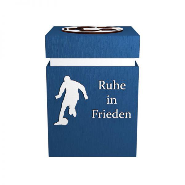 Fußball-Urne Schalke blau/weiß RiF
