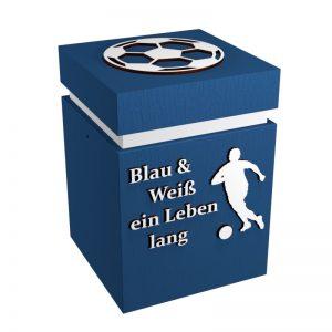 Fußball-Urne Schalke blau/weiß BW