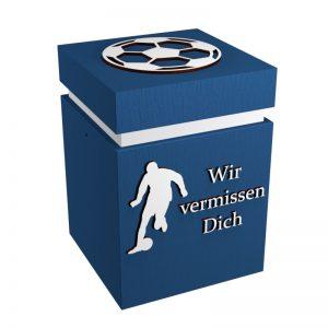 Fußball-Urne Karlsruhe blau/weiß WvD
