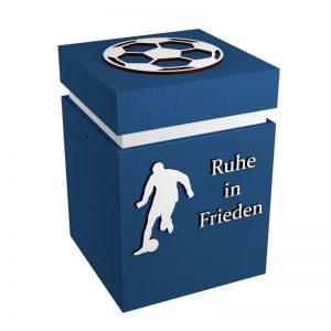 Fußball-Urne Karlsruhe blau/weiß RiF