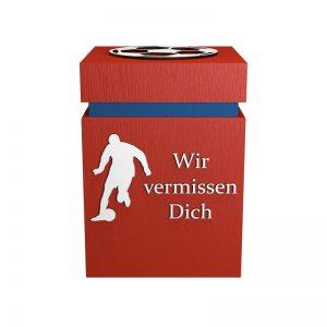 Fußball-Urne München rot/blau WvD