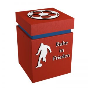 Fußball-Urne München rot/blau RiF
