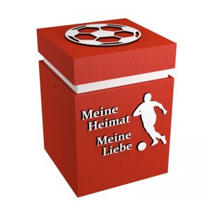 Fußball-Urne Köln hellrot/weiß MHML