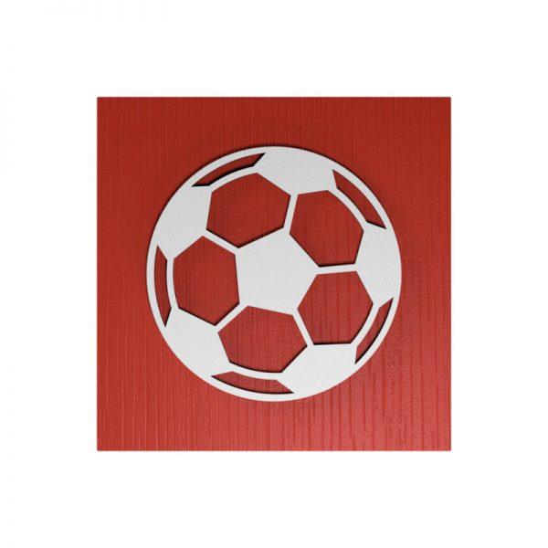 Fußball-Urne Mainz hellrot/weiß MHML