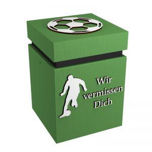 Fußball-Urne Mönchengladbach hellgrün/schwarz WvD