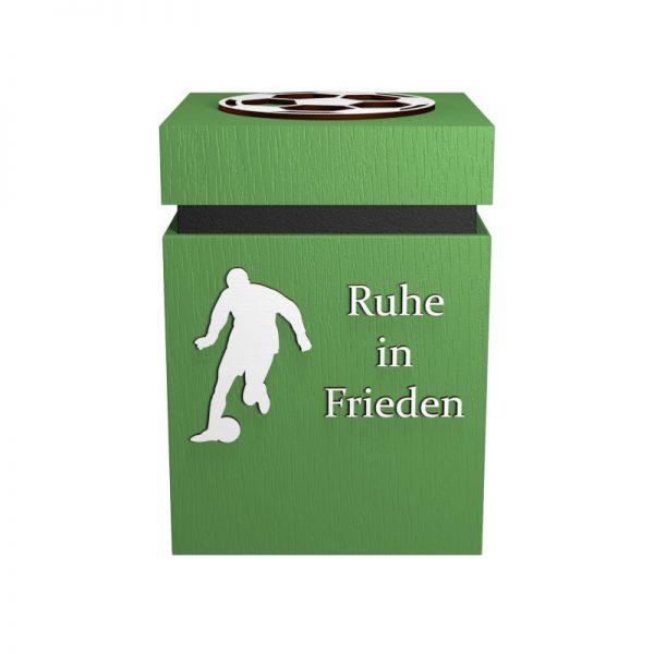 Fußball-Urne Mönchengladbach hellgrün/schwarz RiF