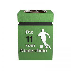 Fußball-Urne Mönchengladbach hellgrün/schwarz Elf