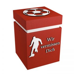 Fußball-Urne Kaiserslautern rot/weiß WvD