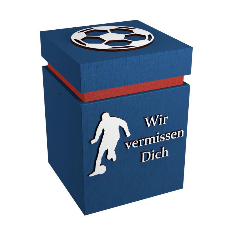 Fußball Urne Leipzig blau/rot WvD