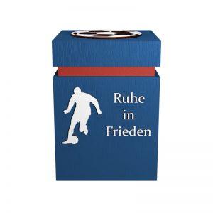 Fußball-Urne Heidenheim blau/rot RiF