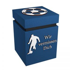 Fußball-Urne Bielefeld blau/schwarz WvD