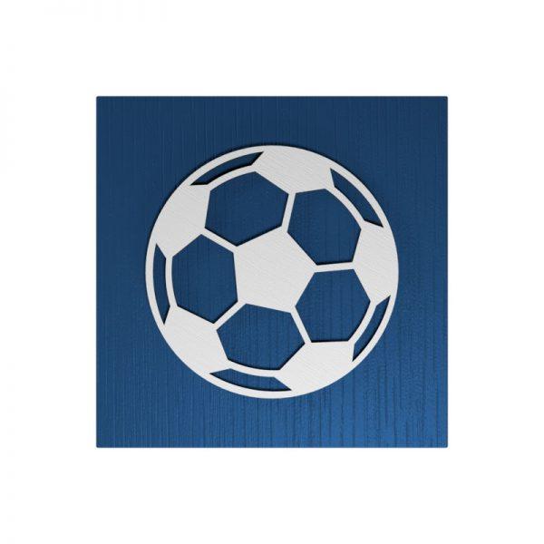 Fußball-Urne Frankfurt blau/schwarz RiF