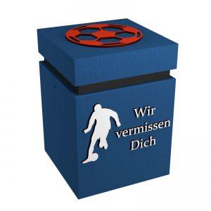 Fußball-Urne Hamburg blau/schwarz/weiß/rot WvD