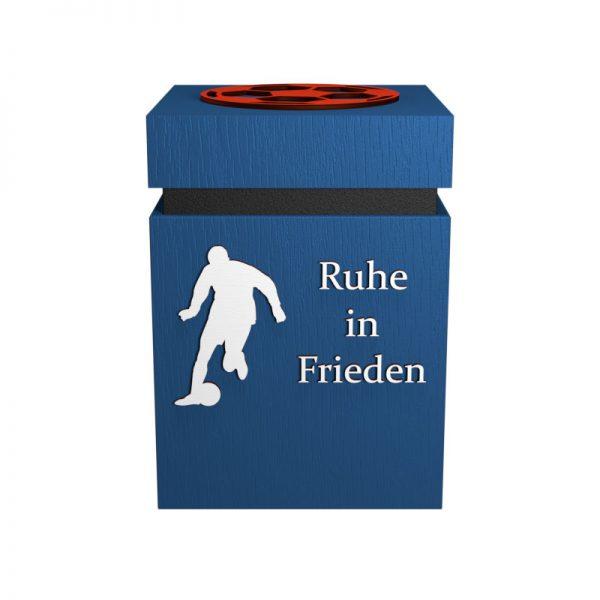 Fußball-Urne Paderborn blau/schwarz/weiß/rot WvD