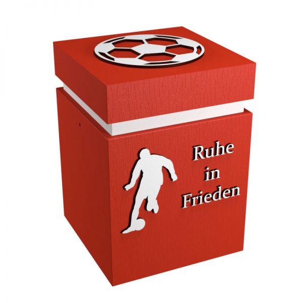 Fußball Urne Köln hellrot/weiß RiF