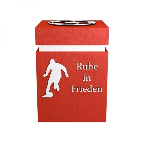 Fußball-Urne Köln hellrot/weiß RiF