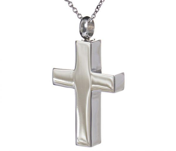 Anhänger silberfarbenes Kreuz